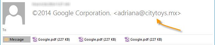 Fake Google Winner Email