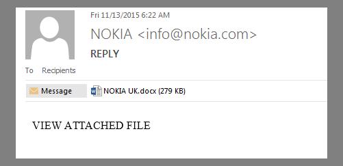 Nokia Fake Email