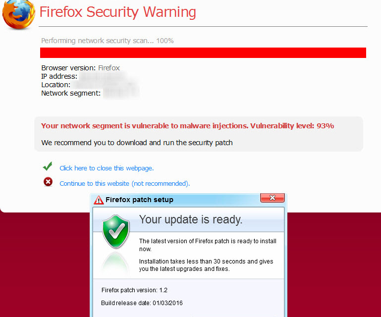 firefox patch scam