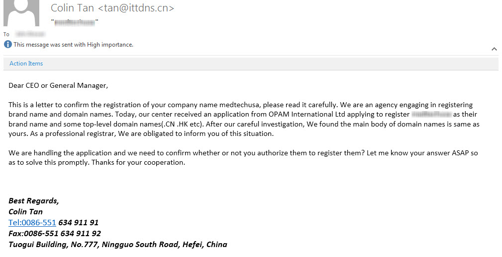 Fake Name Registration in China