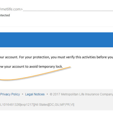 MetLife Fake Email