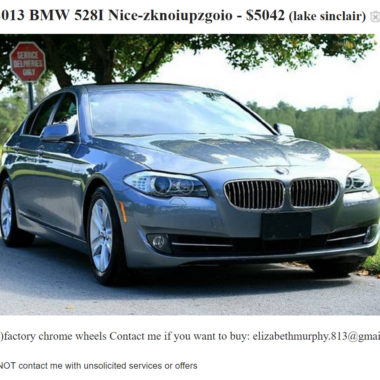 Scam Craigslist Car Sales Ads