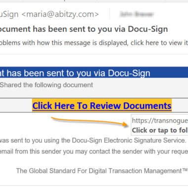 Docusign Fake email