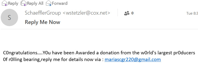 Fake Request for Donation