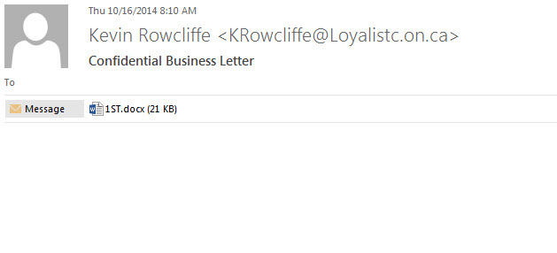 Fake business letter email