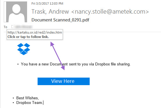 More Fake Drop Box Emails