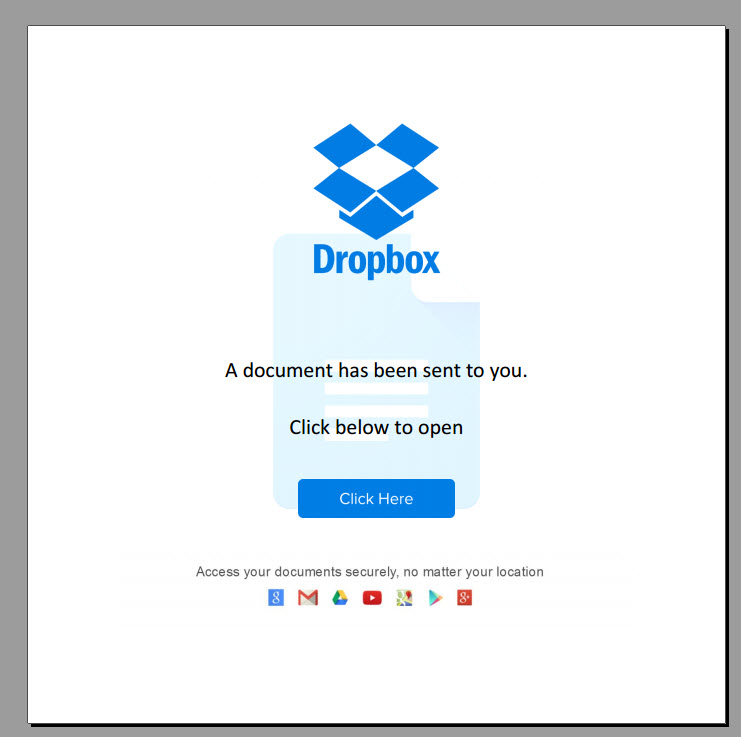 Drop Box phishing scam