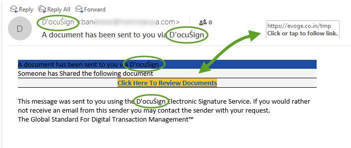 DocuSign Fake Email | Email Scam Alert